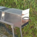 "Party Griller Yakitori Grill 32"" Stainless Steel Charcoal Grill w/ 2x Stainless Steel Mesh Grate"