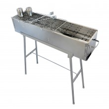 "Party Griller Yakitori Grill 32"" Stainless Steel Charcoal Grill w/ 20"" Straight Grid Grate"