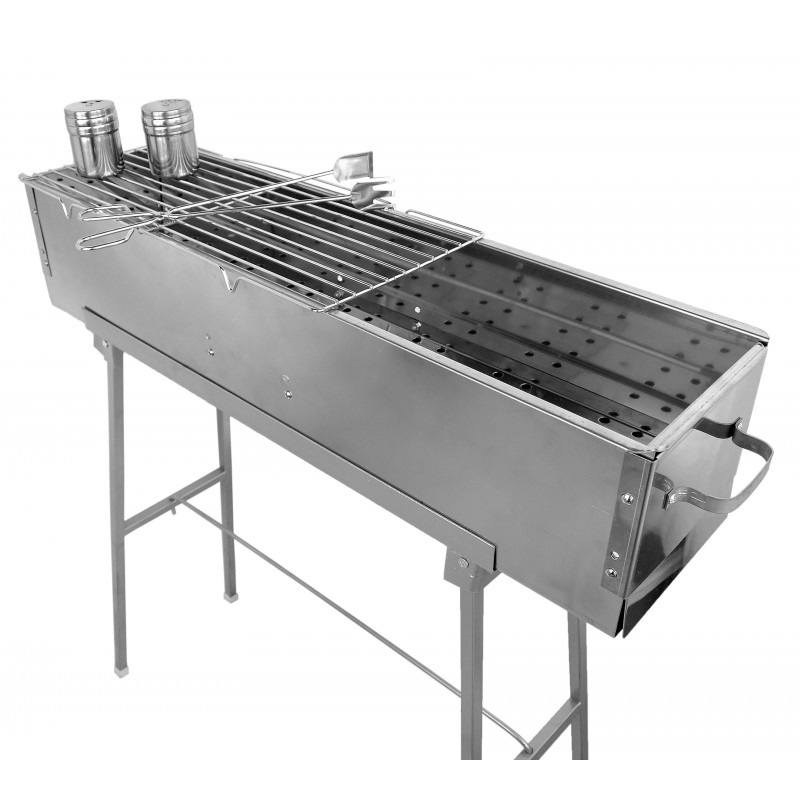 Party griller quot stainless steel charcoal grill w