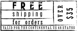 Free Shipping for Orders Over $35