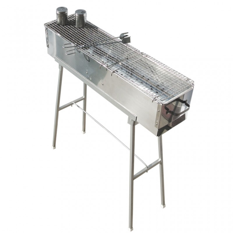 Party Griller Yakitori Grill 32 Stainless Steel Charcoal W 2x Mesh